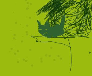 Pikachu sleeping in a tree uWu