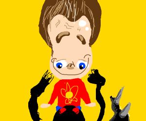 small angry godzilla and jimmy neutron