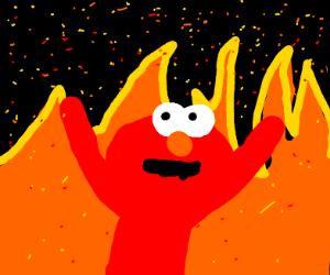 Elmo In Hell Drawception