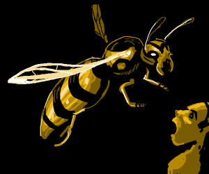 GASP it cant bee! Its the..human sized wasp