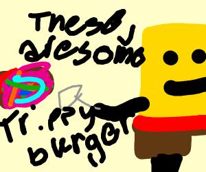 Those Colourful Krabby Patties from Spongebob