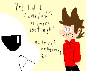 sans apologizes for 'befriending' tord's mom