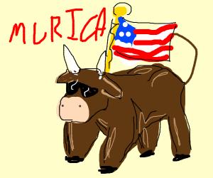 Patriotic bovine