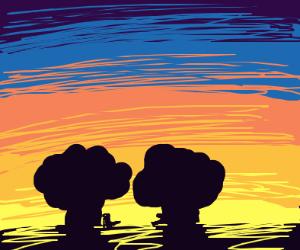 Skyline during sunset