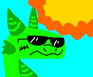 dragon on the sun