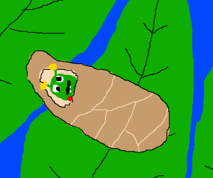 Derpy caterpillar emerging from its coccoon