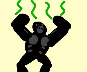 Gorilla is stinky