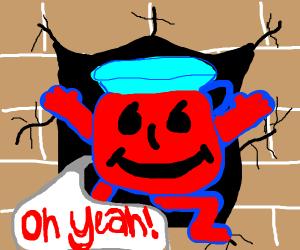 Red tea breaks wall