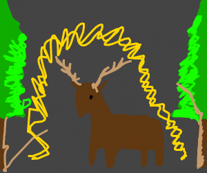 Stag makes a forest GLOW