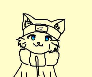Naruto as a cat
