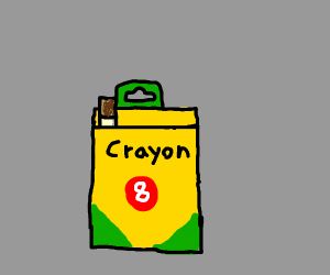 crayon box with cigs in