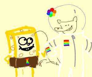 Gay pride sandy from spongebob