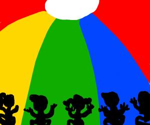 Primary school parachute game
