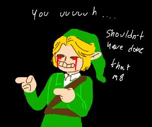 Elf cries blood and does fingerguns