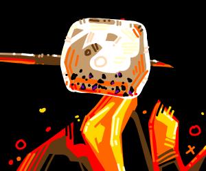 Roasting a marshmellow