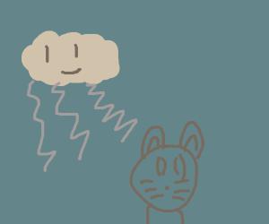 cloud person killing garfield