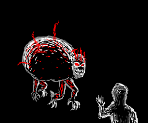 Demon sheep wants to eat your face.