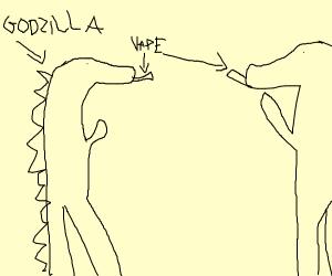 godzilla gave into peer pressure and vapes