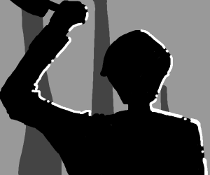 ominous silhouette of a man