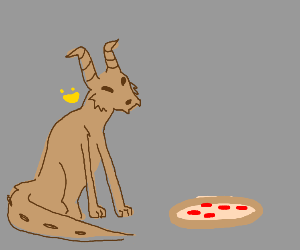 doggo dragon eating the pizza :)