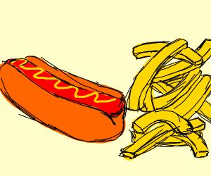 Hotdog French fries