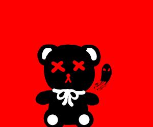 Teddy bear made of death