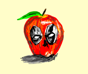 Deadpool but he's an apple