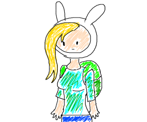 fiona aka female fin from adventure time