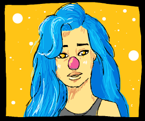 Blue haired clown