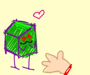 evil green box enjoys severed limbs