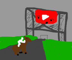 youtube angered by man riding a horse