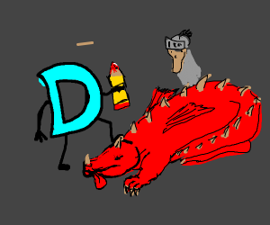 Drawception killed a dragon, knight admires