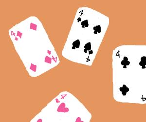 Four 4's (cards)