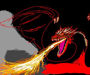 dragon breathing fre