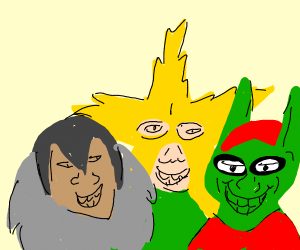 Me and the boys but that rhino guy is leftout