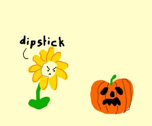 Flower going mad at pumpkin-sama