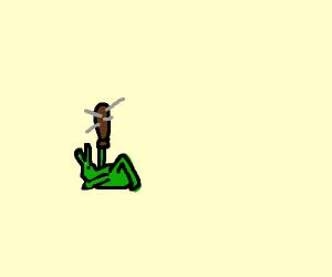 Grasshopper with a club