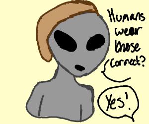 Alien wearing a Hat