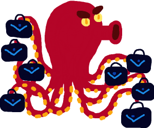 Octopus with 8 purses.