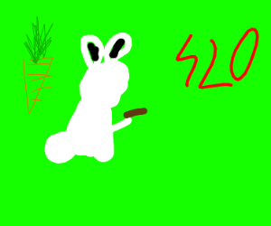 bunny smoking weed