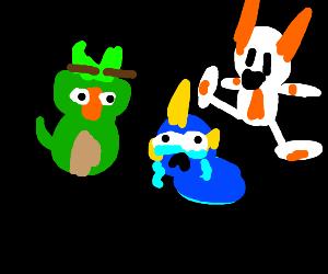 the new pokemon starters