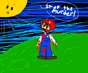 Mario's killing spree makes sun anger