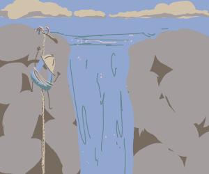 Drawception Climbing a mountian