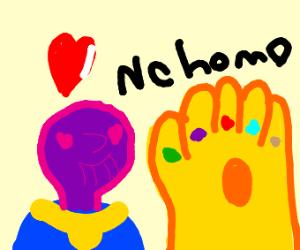 Thanos loves infinity gauntlet (no homo)
