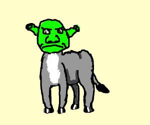 Shrek-Donkey hybrid