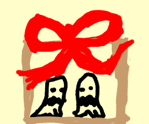 Evil ghosts in a present