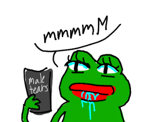 female pepe drinks male tears