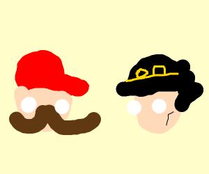 Mario vs Jojo From Jojo's Bizzare Ad.