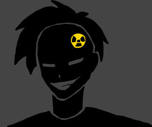Radioactive boy smirking