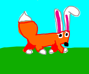 fox with bunny ears